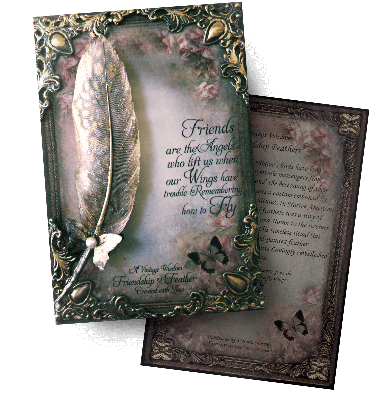 Friendship Feathers Vintage Wisdom Oracle Deck